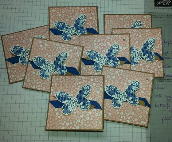 3 x 3 Dapper Butterflies
