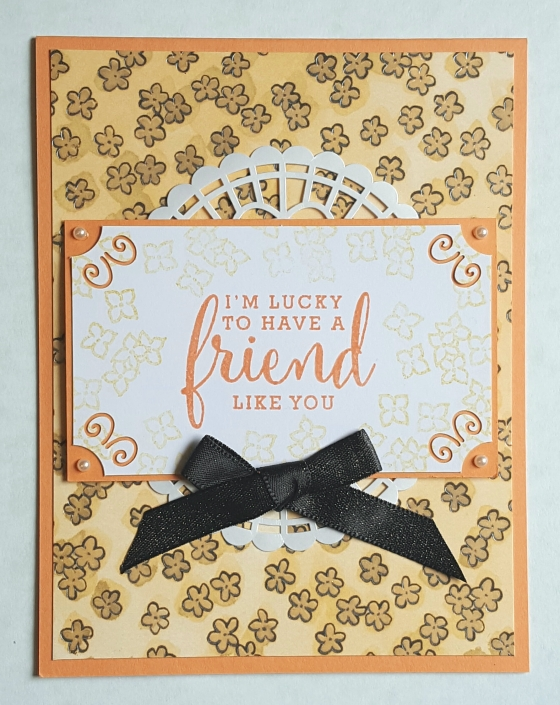 Pearlized Lucky Friend Card