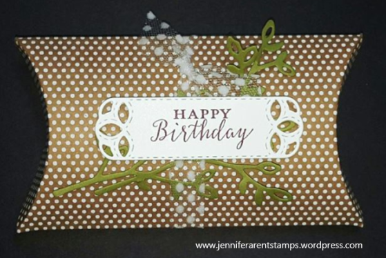 Stitched Birthday Pillow Box