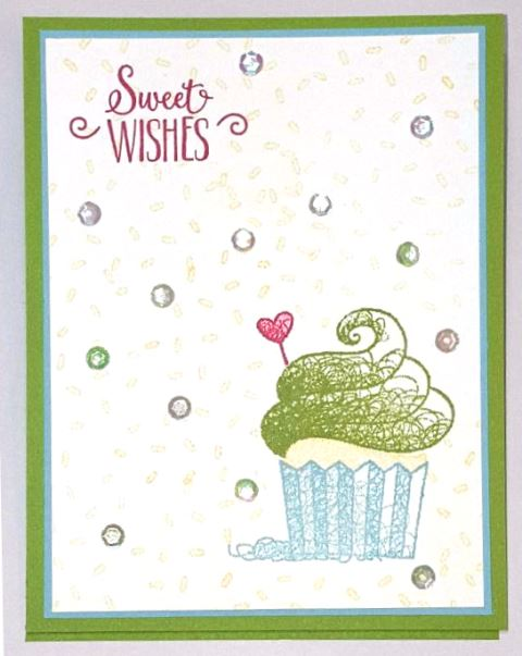 sweet cupcake easel card