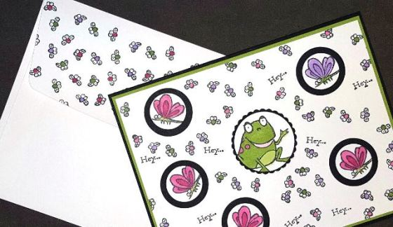 Hey Hey Hey Fun Frog Card and Envelope