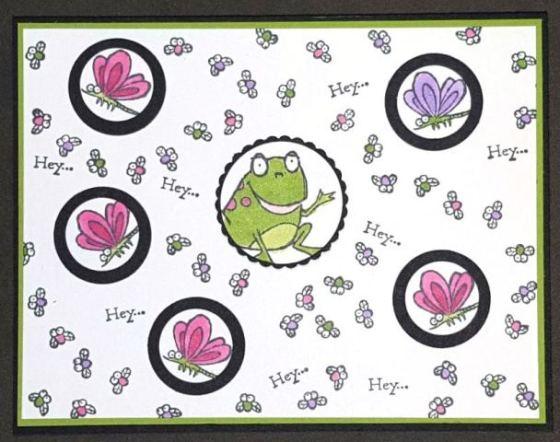 Hey Hey Hey Fun Frog Card