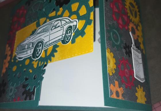 Garage Joy Fold Birthday Card Opening