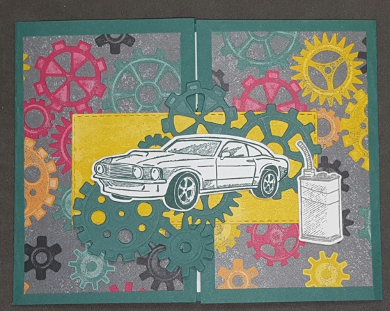 Garage Joy Fold Birthday Card