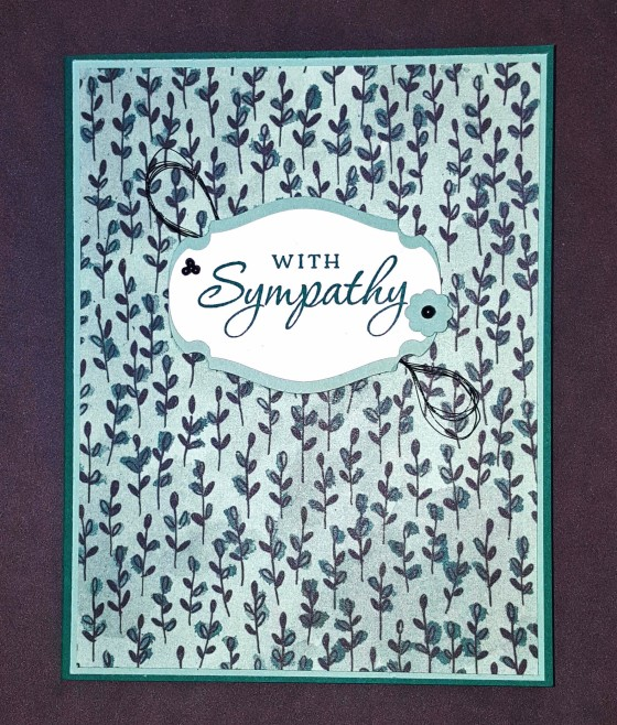 Field of Greens Sympathy Card