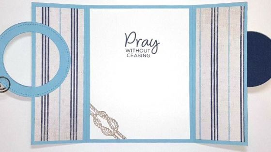 Sailing with Faith Interlocking Gate Fold Card 2