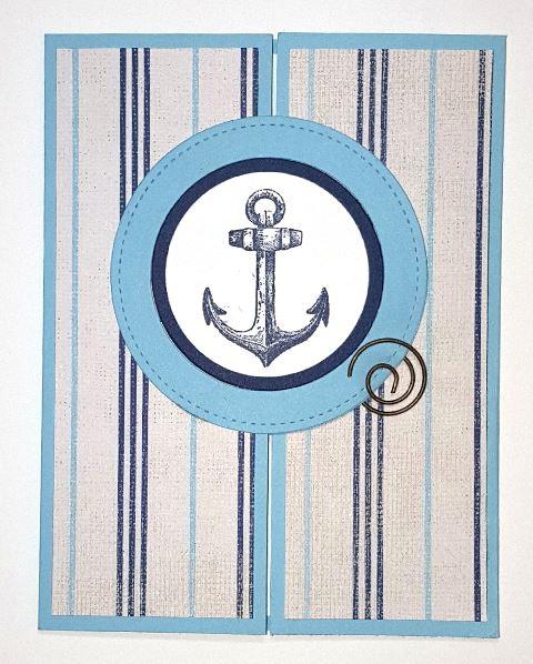 Sailing with Faith Interlocking Gate Fold Card